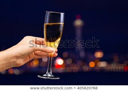 Woman holding a champagne flute Stock photo © IS2