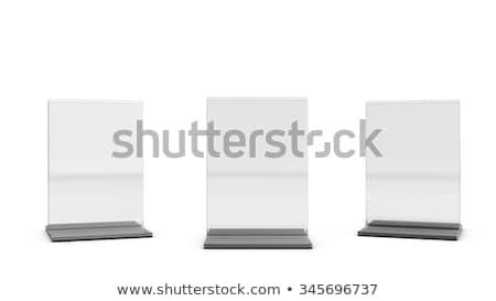 asztal · sátor · terv · bemutató · 3D · renderelt · kép - stock fotó © user_11870380