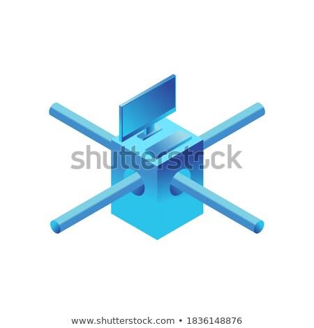 Birim yalıtılmış bilgisayar ağ Internet teknoloji Stok fotoğraf © popaukropa