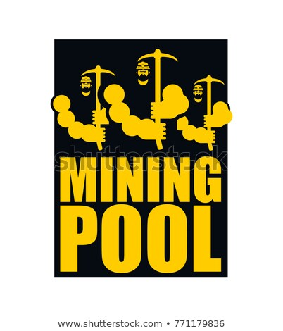 Bitcoin pool. Extraction of Cryptocurrency. Mining is virtual mo Stock photo © popaukropa