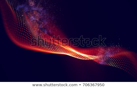 Red abstract background with network pattern Stock photo © ESSL