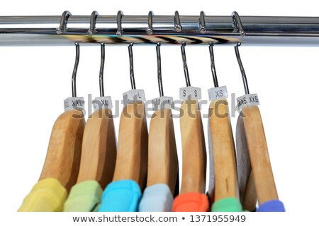 Close up of a clothing rack with extra large clothing size tags Stock photo © kenishirotie