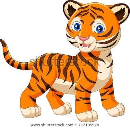 Smiling Cartoon Tiger Stock photo © cthoman