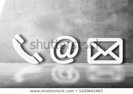 Various White Contact Icons Stock photo © AndreyPopov