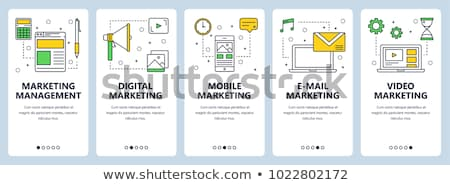Mobile E-mail and Digital Marketing Banner Set Stock photo © robuart