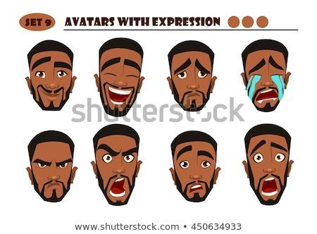 怒っ 漫画 黒人男性 実例 見える ポインティング ストックフォト © cthoman
