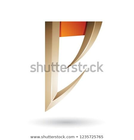 Beige oranje pijl vector Stockfoto © cidepix