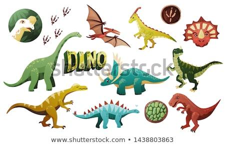 Parola design dinosauri illustrazione arte uccello Foto d'archivio © colematt