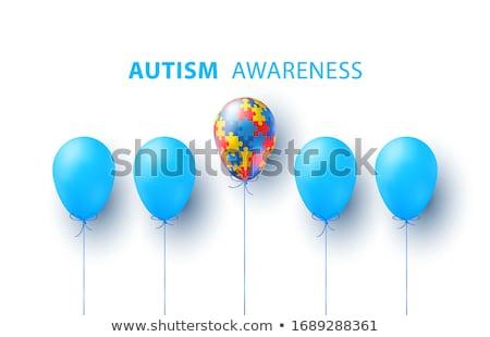autizmus · tudatosság · ötlet · autista · fejlesztés · zűrzavar - stock fotó © lightsource