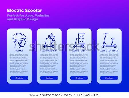 Stedelijke elektrische vervoer app interface sjabloon Stockfoto © RAStudio