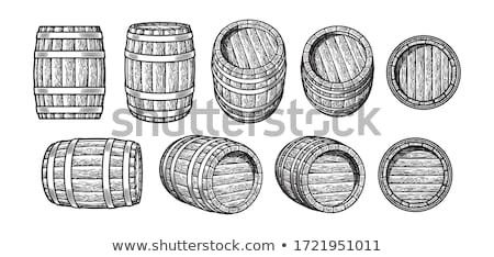 Wooden Keg for Alcohol Drinks Isolated Graphic Art Stock photo © robuart
