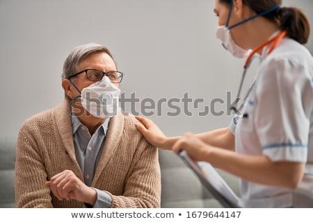 maison · de · retraite · âgées · personnes · santé · médicaux - photo stock © colematt