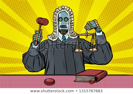 robot judge in robes and wig Stock photo © studiostoks