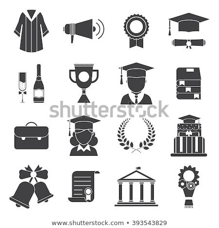 Ukończeniu ceremonia zestaw ilustracja absolwent Zdjęcia stock © Blue_daemon