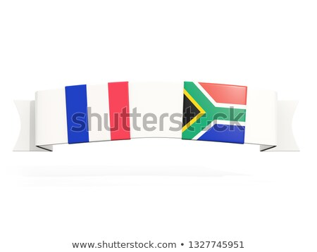 Banner with two square flags of France and south africa Stock photo © MikhailMishchenko