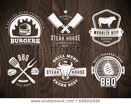 barbecue · bbq · grill · partij · stempel - stockfoto © netkov1