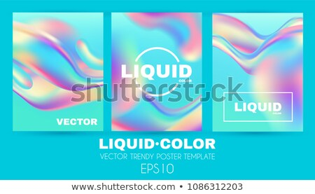 Abstract Background Liquid Fluid Set Vector. Cosmetic Magazine. Chemistry Shapes. Party Light. Ink F Stock photo © pikepicture