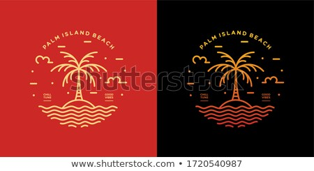 beach summer island theme sign label Stock photo © vector1st