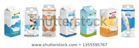 vector set of milk Stock photo © olllikeballoon