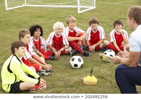 ストックフォト: 監督 · コーチング · サッカー · チーム · スポーツ · クラブ