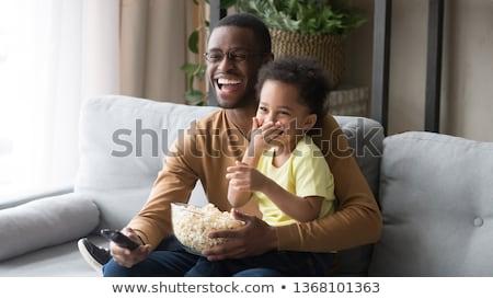 deux · femmes · salon · manger · femme · sourire - photo stock © lopolo