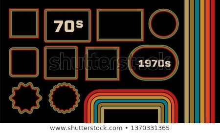 1970s Style Museum Picture Frames Vector Set Foto stock © pikepicture