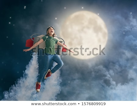 少女 英雄 衣装 実例 子 背景 ストックフォト © bluering