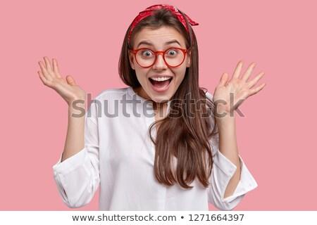 Opgewonden jonge vrouw handen Stockfoto © Giulio_Fornasar