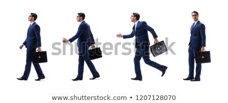 Jonge manager aktetas geïsoleerd witte kantoor Stockfoto © Elnur