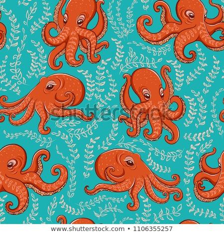 Vector octopus cute kleurrijk Stockfoto © user_10144511