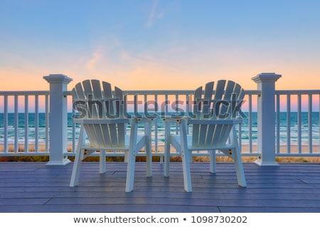 rosolare · sedie · tavola · fiori · legno · design - foto d'archivio © frankljr