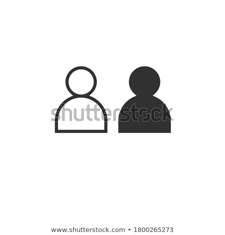 Linear user profile icon with link. Stock Vector illustration isolated on white background Stock photo © kyryloff