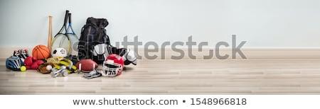 Inny typu sprzęt sportowy biurko biały Zdjęcia stock © AndreyPopov
