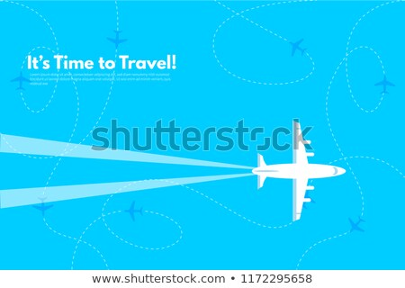 Time to Travel Website Text Map with Countries Stock photo © robuart