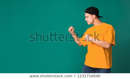 ready to fight portrait of a male teenager Stock photo © Lopolo