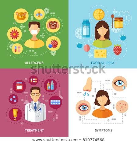 Allergy types abstract concept vector illustrations. Stock photo © RAStudio
