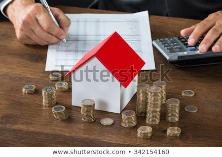 Homme impôt modèle maison pièces affaires Photo stock © AndreyPopov