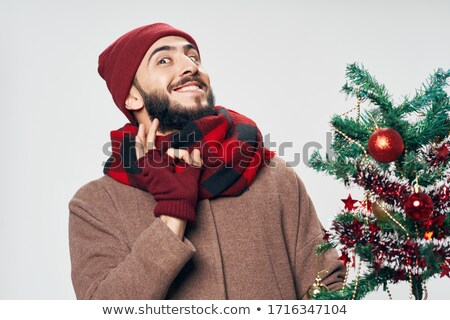 面白い あごひげを生やした 男性 あごひげ 冬 ストックフォト © vkstudio