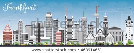 Франкфурт Skyline серый зданий Blue Sky Сток-фото © ShustrikS