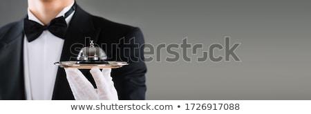 Komornyik vendégszeretet portás szolgáltatás harang kéz Stock fotó © AndreyPopov