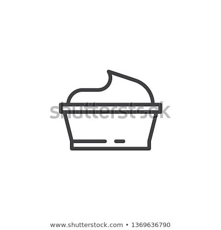 Saus kom mayonaise icon vector schets Stockfoto © pikepicture