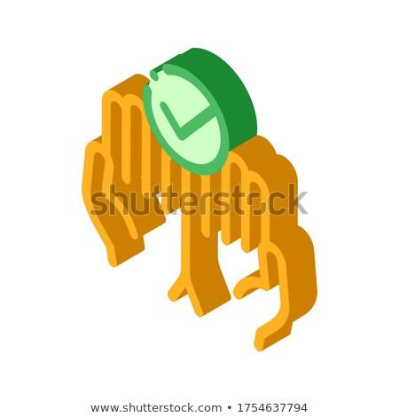 Mãos dedos palms para cima aprovado Foto stock © pikepicture