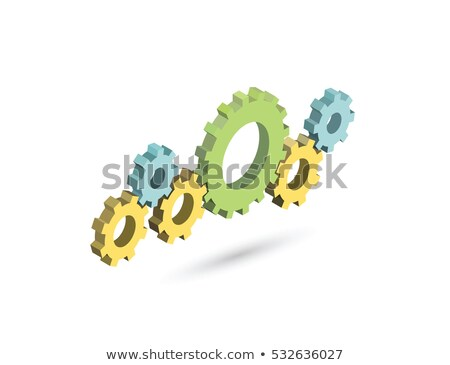 Mechanical Gear isometric icon vector illustration Stock photo © pikepicture