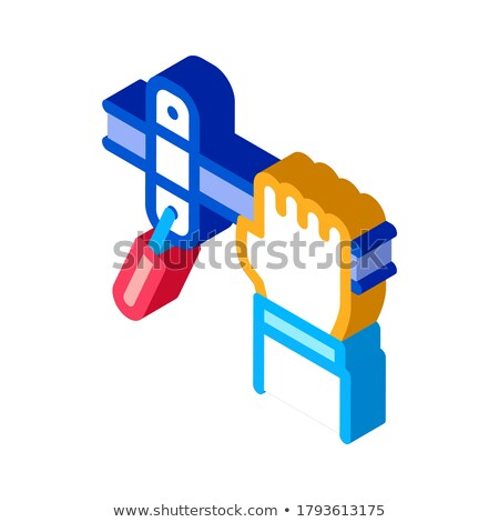 стороны трубы изометрический икона вектора знак Сток-фото © pikepicture