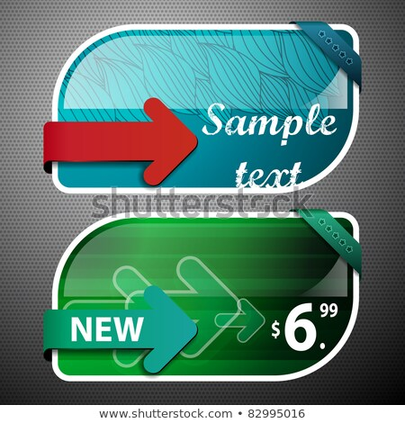 groene · geïsoleerd · witte · prijs · tag · papier - stockfoto © orson