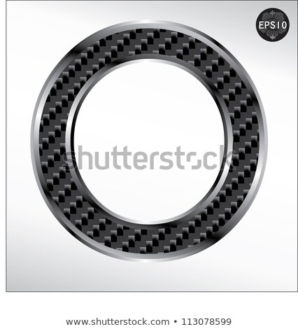 carbon fiber font o lowercase and capital letters stock photo © arsgera