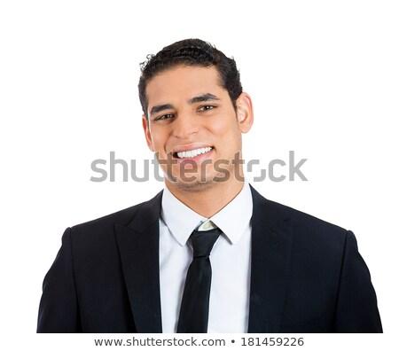 Headshot Smiling Asian Male Customer Service Representative with Stock photo © Qingwa