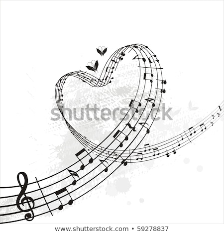 Love for Music composition Stock photo © cienpies