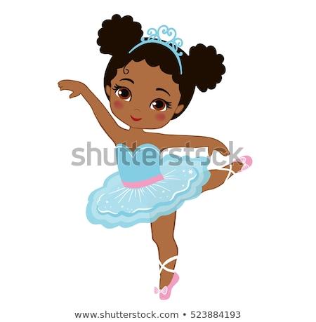 dansçı · siyah · kız · şerit · bale - stok fotoğraf © pekour