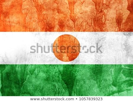 Гранж флаг Нигер старые Vintage гранж текстур Сток-фото © HypnoCreative